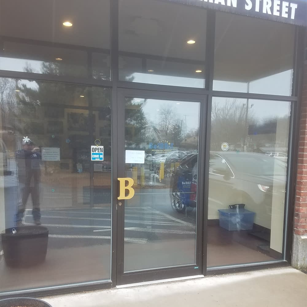 small business glass doors